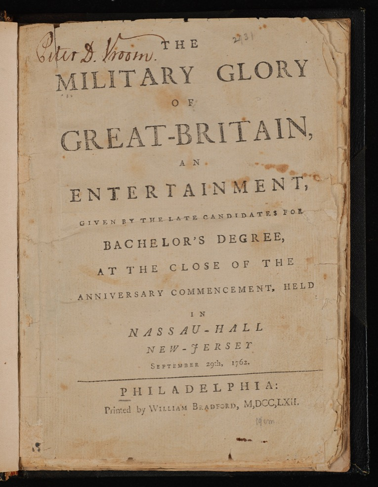 "Title page from ""The Military Glory of Great Britain."""