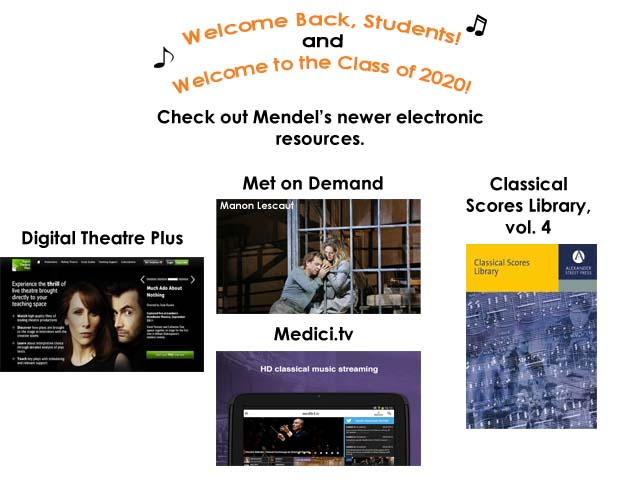 Mendel Fall 2016 Welcome back