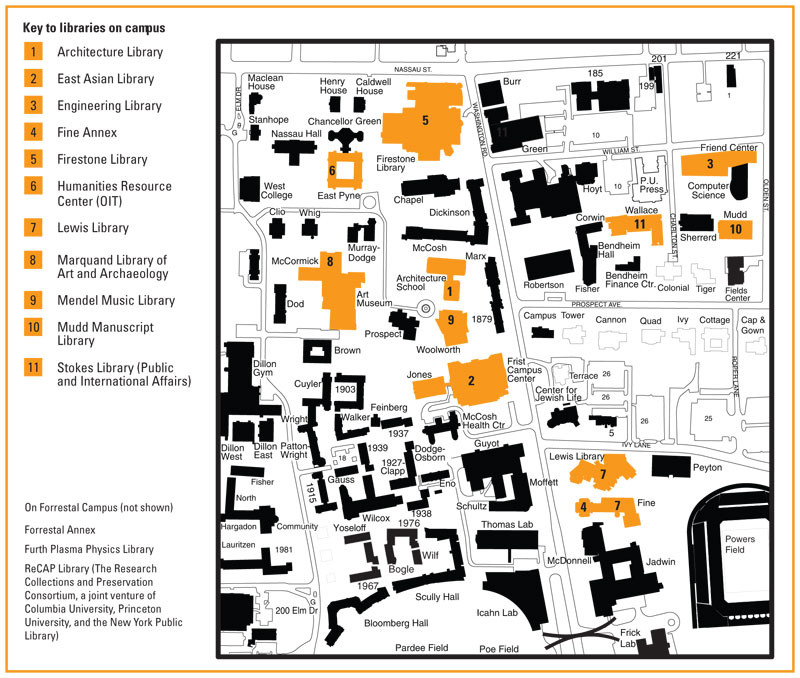 Princeton University Campus Map Pdf 800 x 678 147 kb Jpeg Princeton University Map