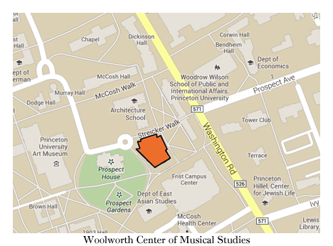 Woolworth Hall on map