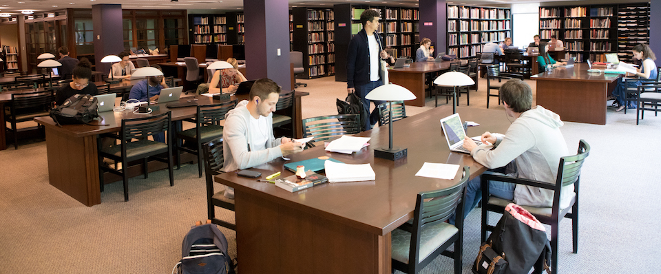 Students in the Marquand Art Library