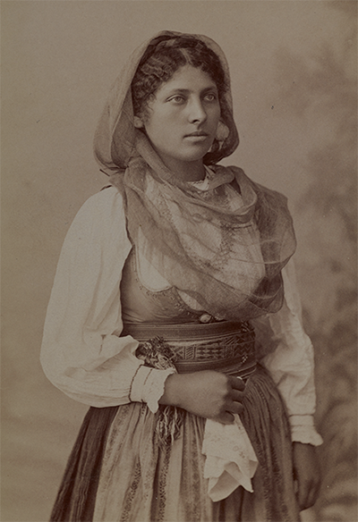 A portrait of a woman from Corfu circa 1890