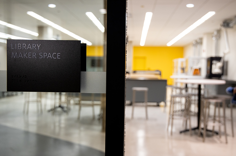 Makerspace entrance