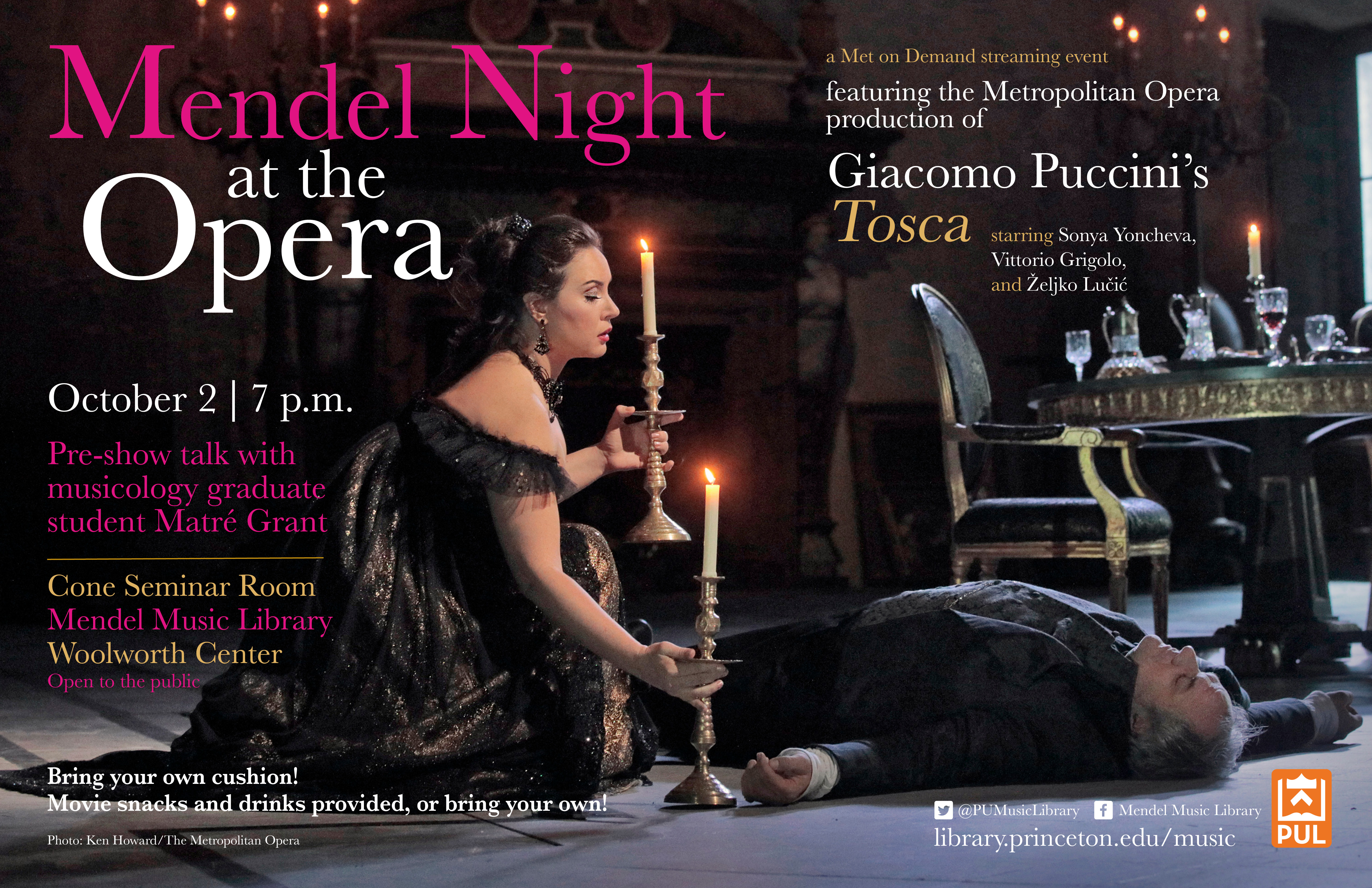 Mendel Night at the Opera, Poster