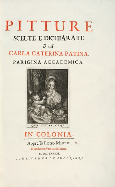 Title page of Pitture scelte (1691).