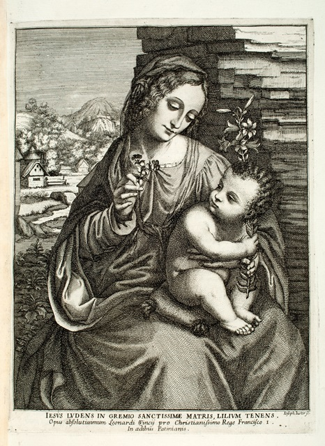 Illustration in Pitture scelte: Joseph Juster (active ca. 1690) after Giampetrino (active 1495–1549), Madonna del giglio.