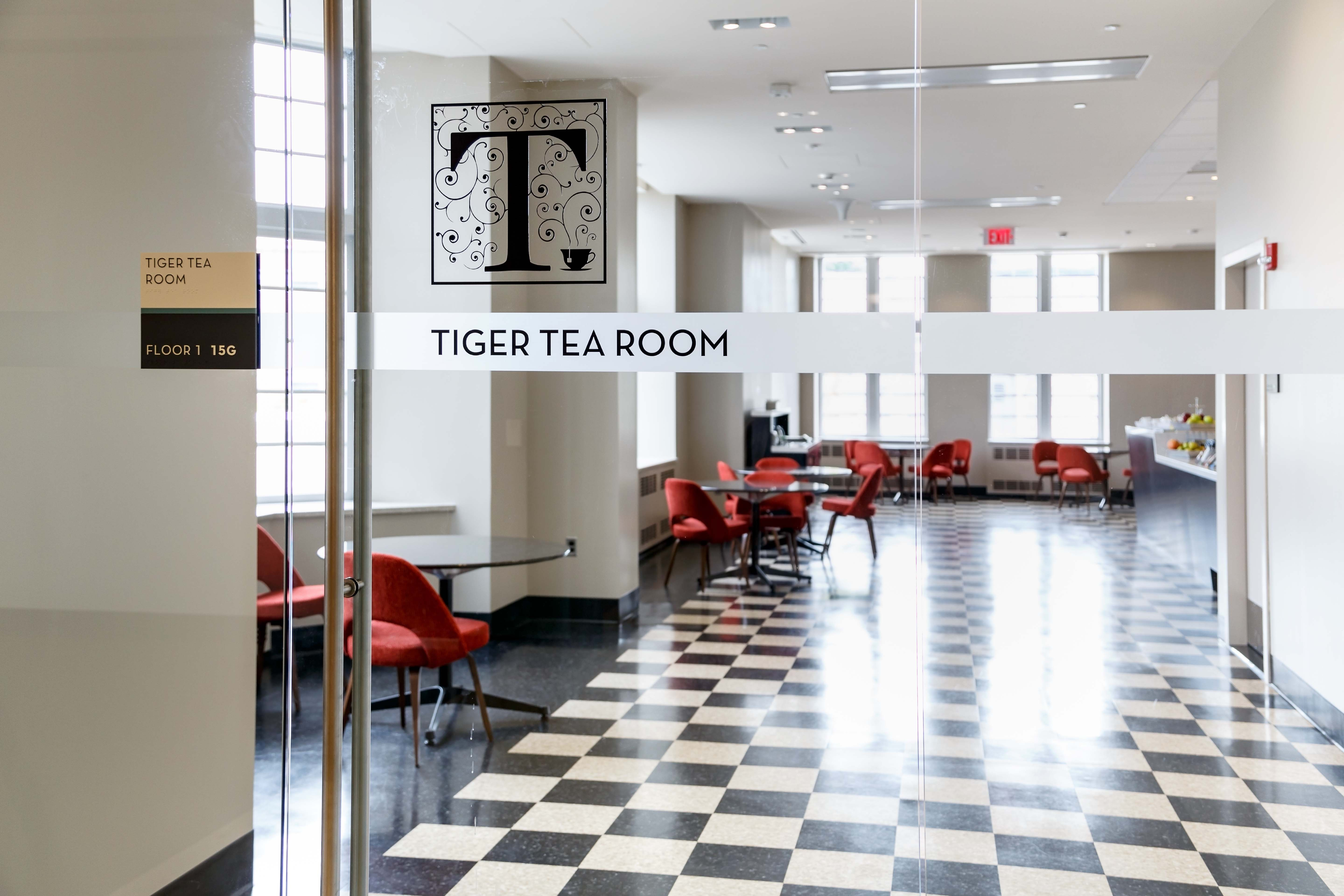 Tiger Tea Room, Firestone Library, first floor