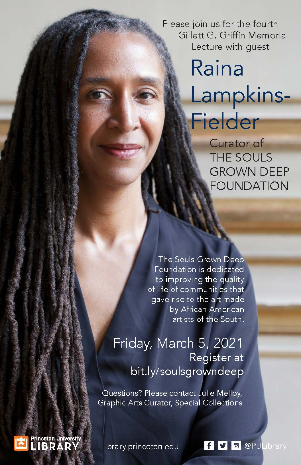 Poster of Raina Lampkins-Fielder, curator of The Souls Grown Deep Foundation