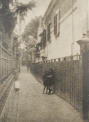 Fuchikami Hakuyō (1889-1960), Foreigners in the Street at Noon  Hakuyō, Volume 1, No. 1 (1922) This photograph, in the style of
