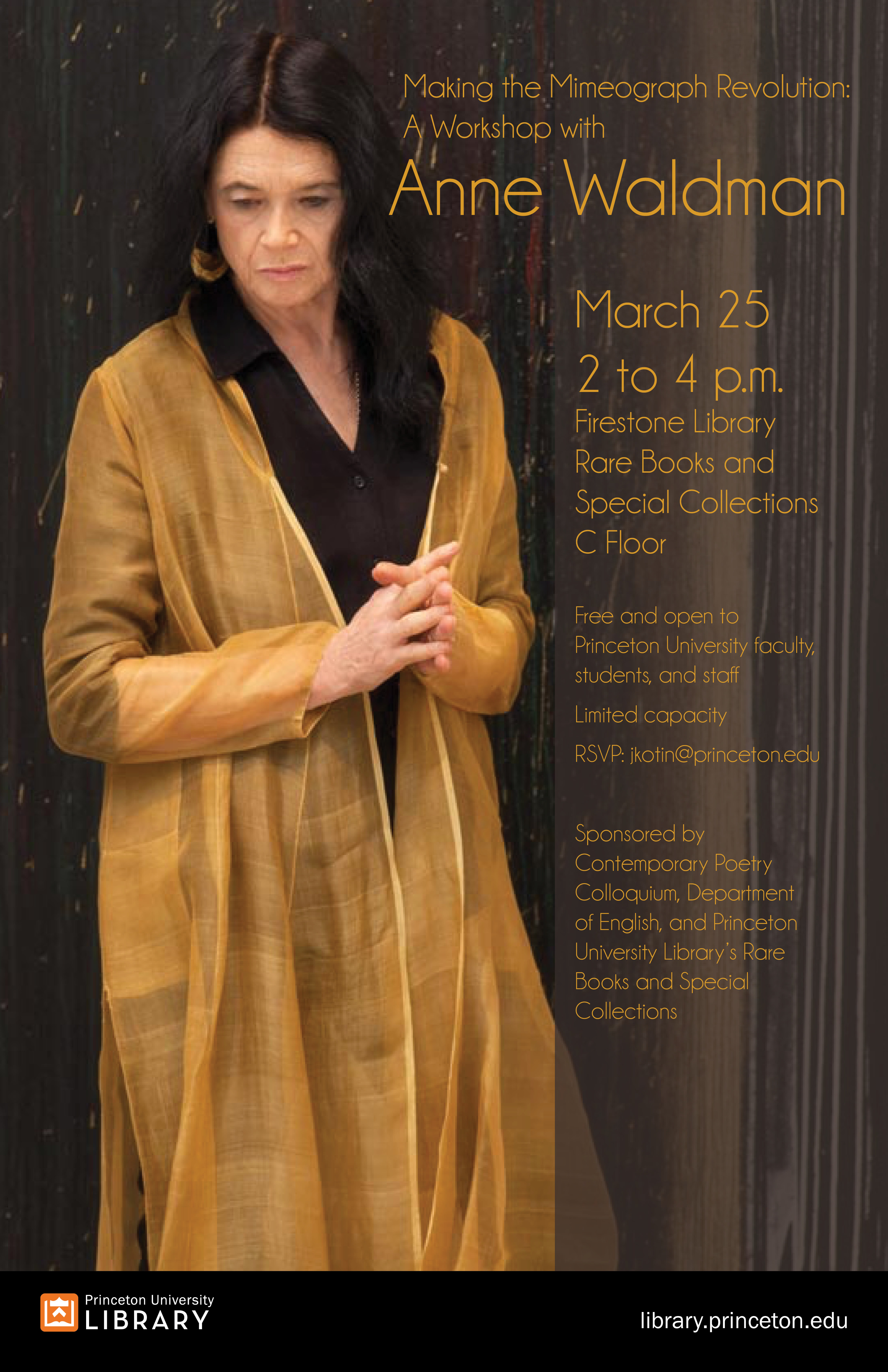 Anne Waldman workshop poster