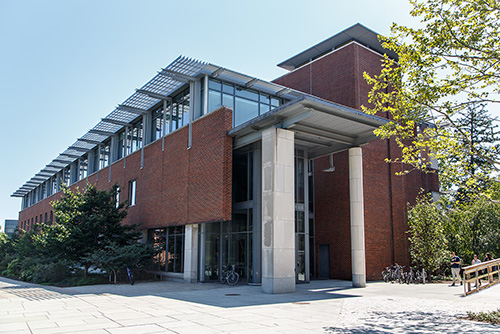 The Stokes Library is located in Wallace Hall