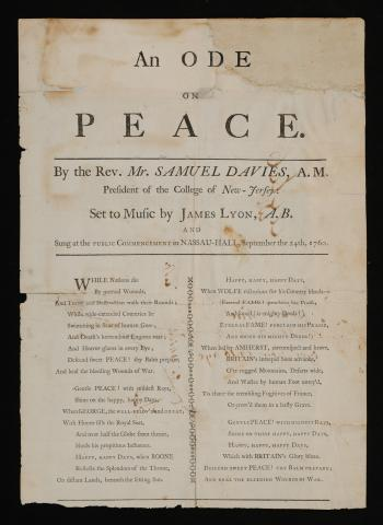 "Ode on peaceDavies, Samuel, 1723-1761."" (2003-0204Q) Rare Book Division"