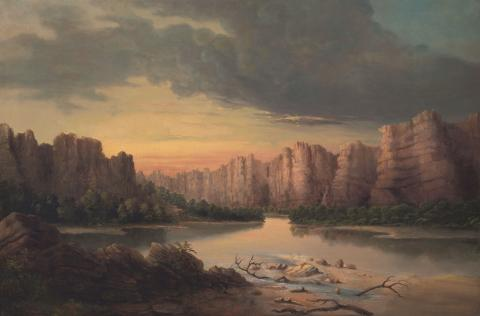 Solomon Nunes Carvalho, Grand River (Colorado River), no date, oil on canvas