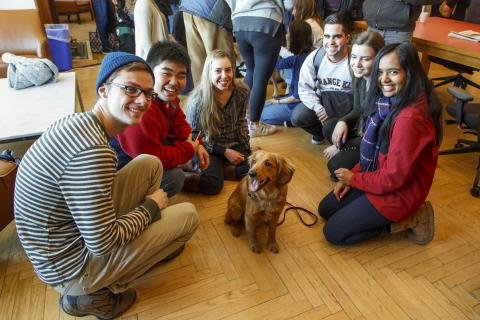 Koa with students