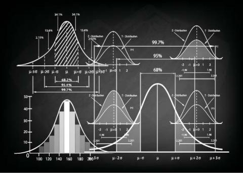 Stock photo of bell curves