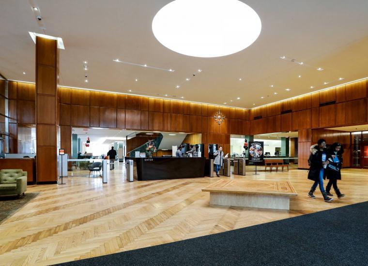 Firestone Library lobby