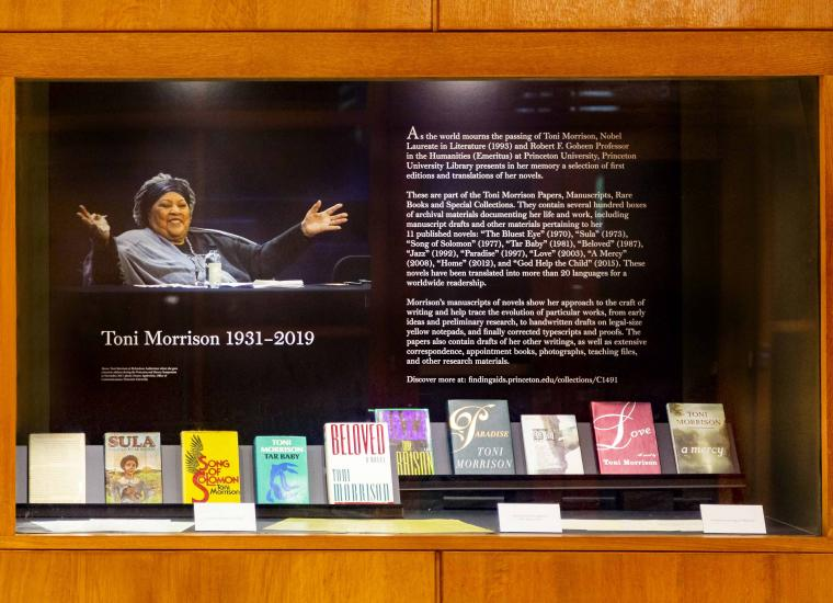 Toni Morrison exhibition in Firestone Library