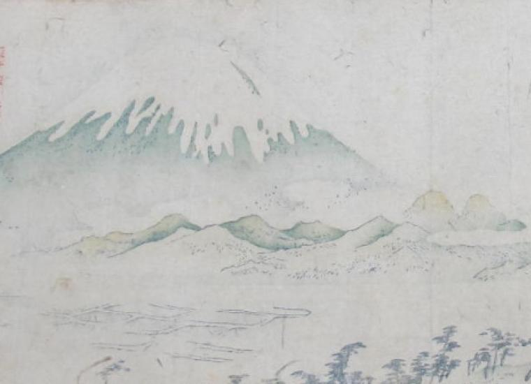 A section of the Tokaido Road map
