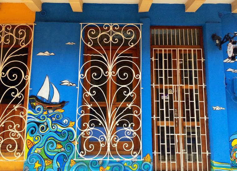 mural Cartegena, Columbia