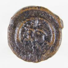Bronze 2-nummus piece of the Heraclian Revolt, 610.