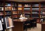 Student studying in Marquand Library