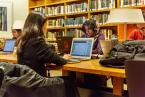 students working at Library