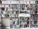 A view of part of Jacques Derrida's library