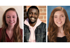 Three headshots of undergraduate students
