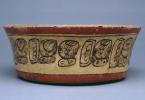 Mayan painted bowl