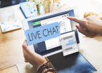 Live chat on laptop