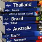 Stack of Lonely Planet travel guides