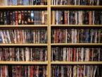 shelves of DVDs