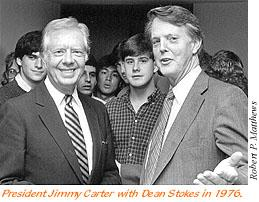 President Jimmy Carter and Dean Stokes in 1976
