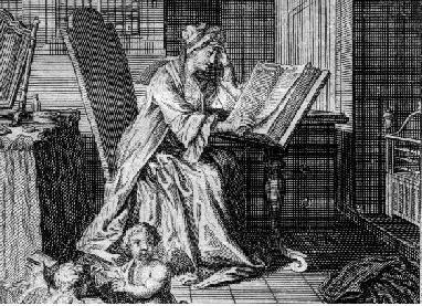 Frontispiece to vol. 1 of Bibliotheque des dames(1716)