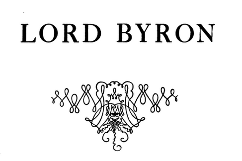 Detail from titlepage of Lord Byron and his detractors.(1906) GAX 2003-0256Q
