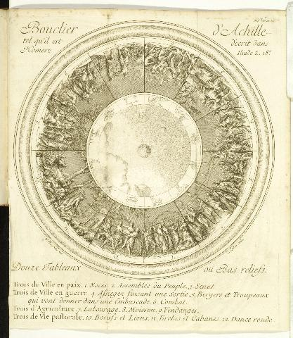 Plate from Apologie d'homère et Bouclier d'Achille (Paris, 1715)  [(Ex) 2007-2567n]
