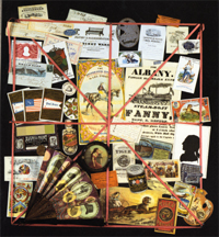 Cover of  Graphic Americana:  the art and technique of  printed ephemera from  abecedaires to zoetropes  (Princeton, 1992)  [(GA) NE505 .R693 1992]