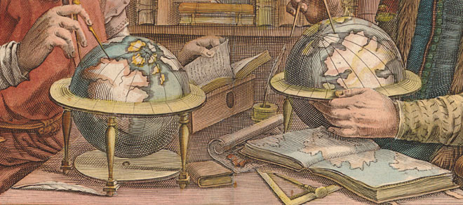Detail from Atlas or A Geographicke Description of the Regions,  Countries and Kingdomes of the World (Amsterdam, 1636)  [(Ex) 1009.634e ]