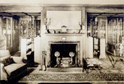 The Parrish Collection as it looked in his residence Dormy House in Pine Valley, NJ before it came to Princeton in 1944.