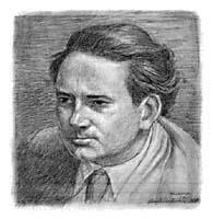 Portrait of Thomas Wolfe, by Douglas Gorsline, 1937. Courtesy of Alexander D.  Wainwright '39