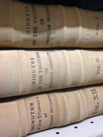 Trustees Minutes, 1746-1894