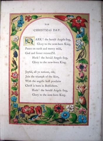 Joseph Cundall (1818-1895), A Booke of Christmas Carols, Illuminated from Ancient Manuscripts in the British Museum (London: Henry O. Bohn, 1845). Plates drawn and lithographed by John Brandard (1812-1863). Graphic Arts GAX 2011--0694N