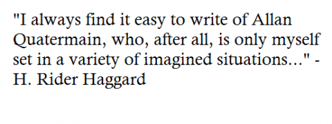 From Haggard's autobiography