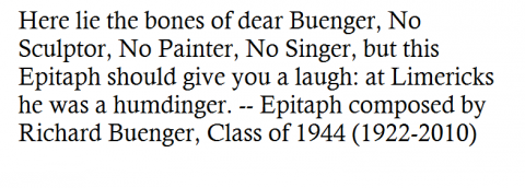 Text from http://www.legacy.com/obituaries/chicagotribune/obituary.aspx?n=richard-e-buenger&pid=147101911