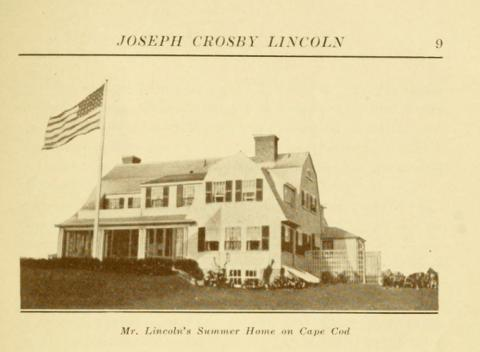 Garland, Hamlin, 1860-1940. Joseph Crosby Lincoln. [New York: D. Appleton, 1926.]  Copy at http://hdl.handle.net/2027/loc.ark:/13960/t7cr6dk50