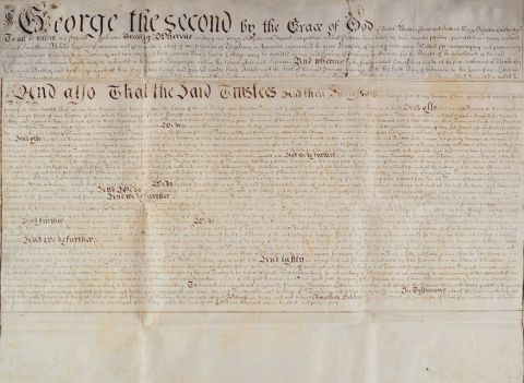 Charter of the Trustees of the College of New Jersey, 1748