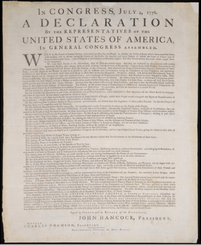 declaration of independence 1776 essay The argument of the declaration of the organization of the declaration of independence reflects what has come to be known as the in june 1776, when it became.