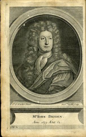 Vol 2: Portrait of Dryden before title page by Gottfried Kneller (1646-1723) and Michael van der Gucht (1660-1725) - Virgil translated by Dryden 1716 ed. VRG 2945.2716