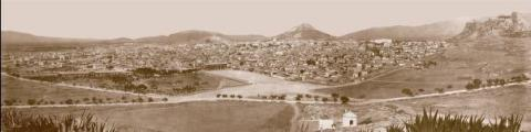Panorama of Athens by Félix Bonfils, made by digitally combining three separate photographs