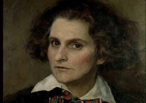 Sylvia Beach, oil on canvas, by Paul-Emile Becat (1923)  [Sylvia Beach Papers (C0108) Series IX, item 1 ]